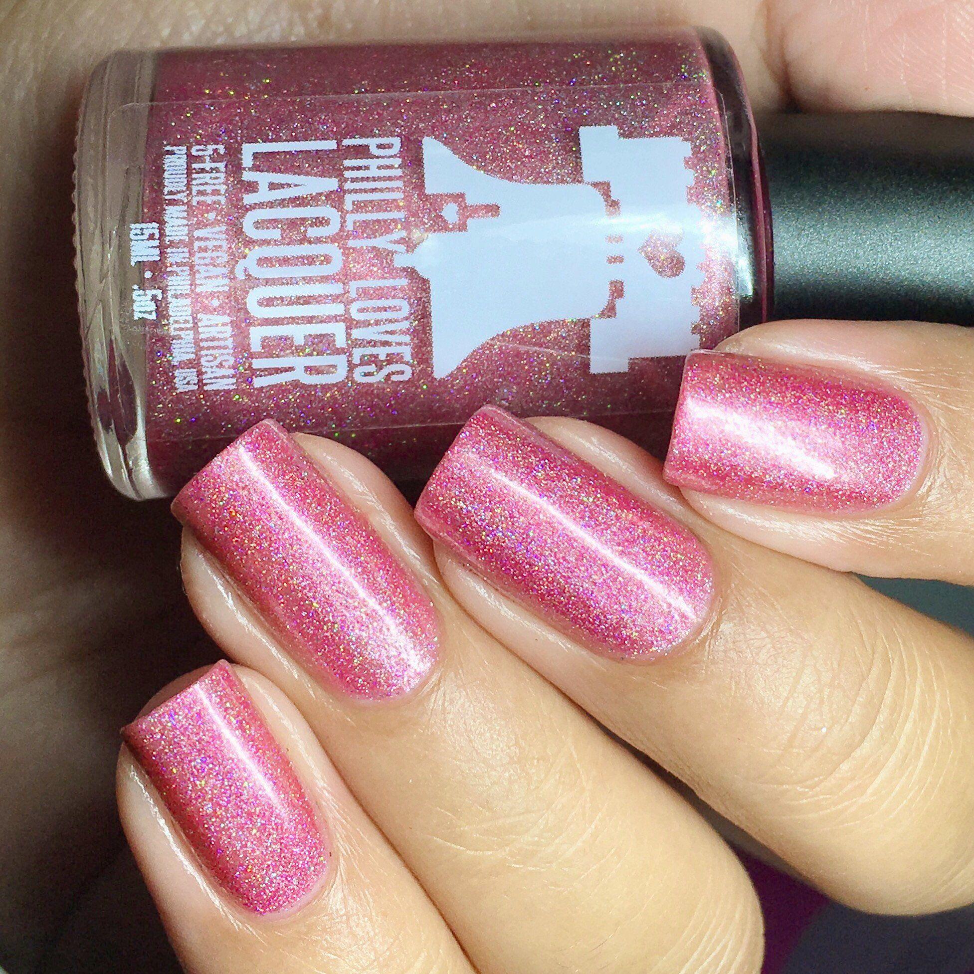 Philly Loves Lacquer - Aww Honey, You Baked! Dark Pink Holographic ...