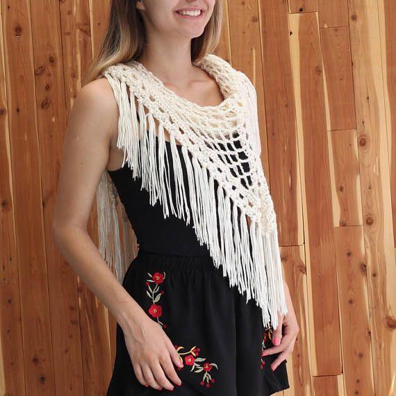 Easy Crochet Scarf, Women crochet pattern, Crochet wrap pattern ...