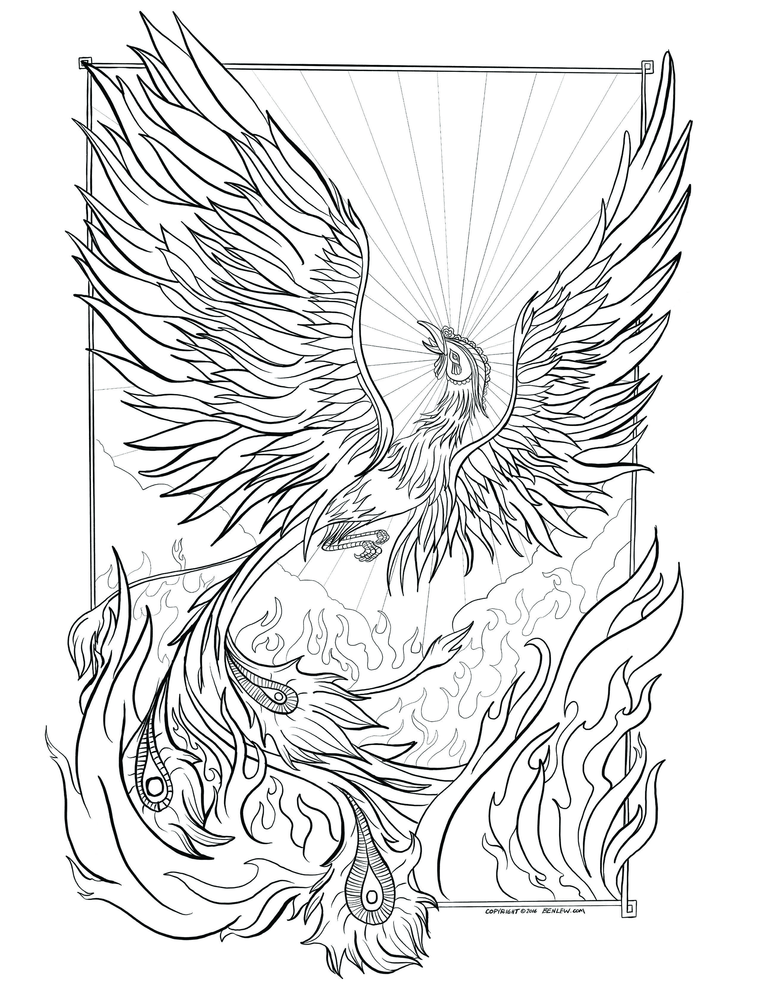 Rebirth Coloring Page Abstract Coloring Pages Bird Coloring Pages Mermaid Coloring Pages