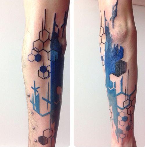 geometric and brush stroke tattoo tattoo pinterest tattoo ideen lebenslinien und tattoo. Black Bedroom Furniture Sets. Home Design Ideas