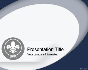 free scout powerpoint template | abstract powerpoint templates, Modern powerpoint