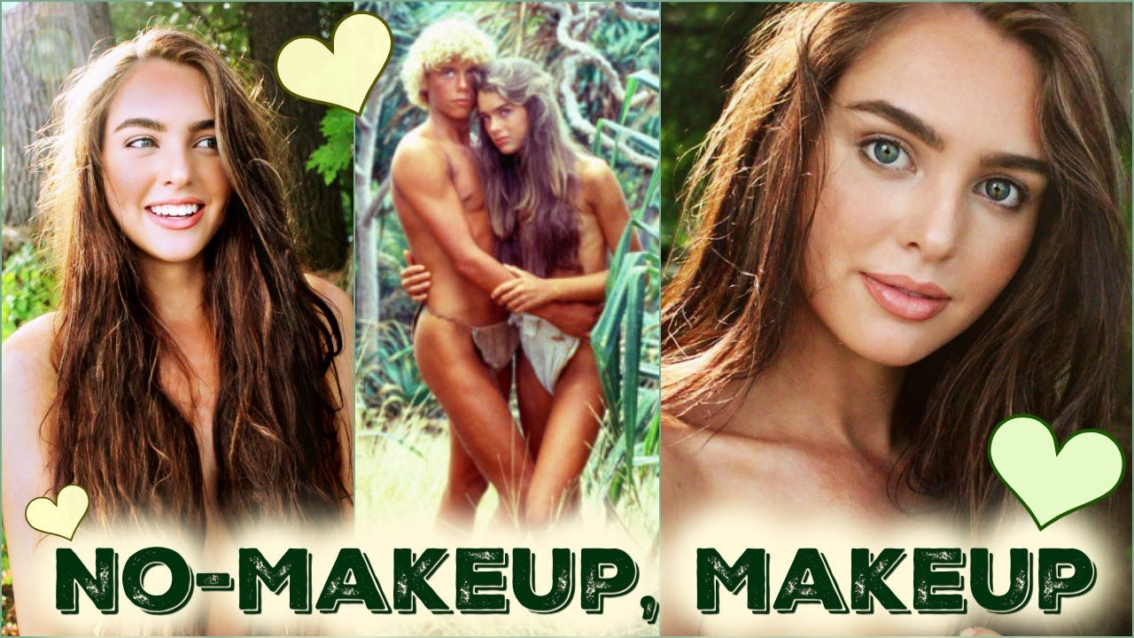 No Makeup Makeup Tutorial Brooke Shields The Blue Lagoon Beach Hair Makeup Beach Hair Beach Makeup Tutorial Beach Makeup