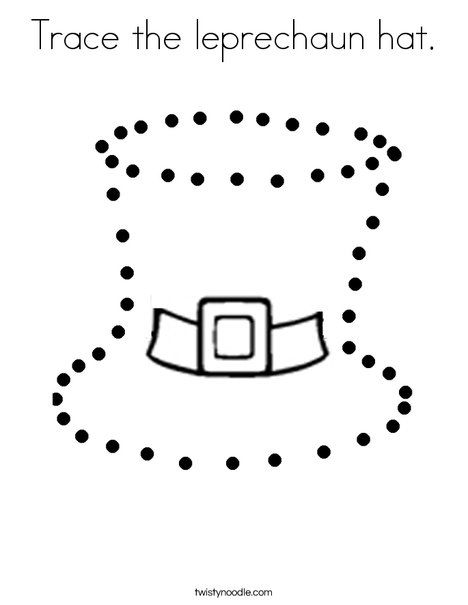 Trace The Leprechaun Hat Coloring Page Twisty Noodle