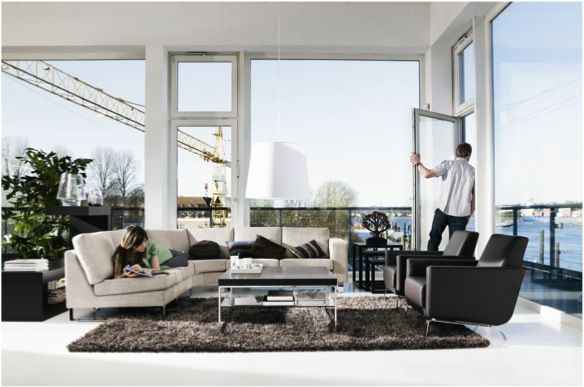 Boconcept living room indivi sofa the fly chair and for Canape boconcept