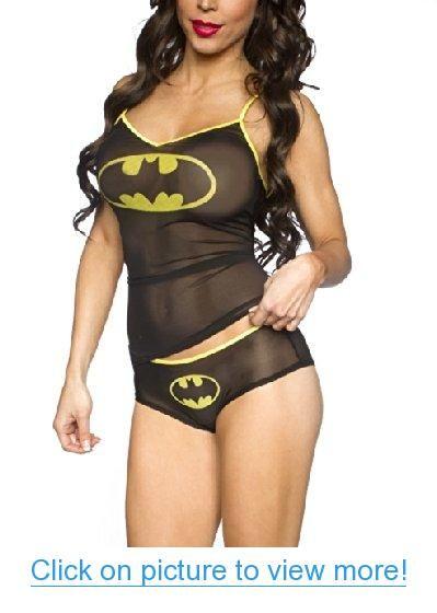 a677c1b8032e Batman Mesh Black Women's Cami/Panty Set | Batman in 2019 | Batman ...