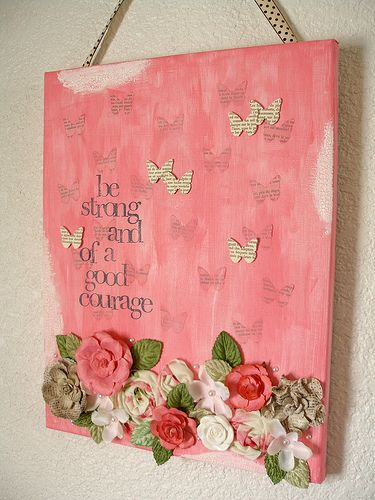 Be Strong Altered Canvas Fun Decor Canvas Art Art