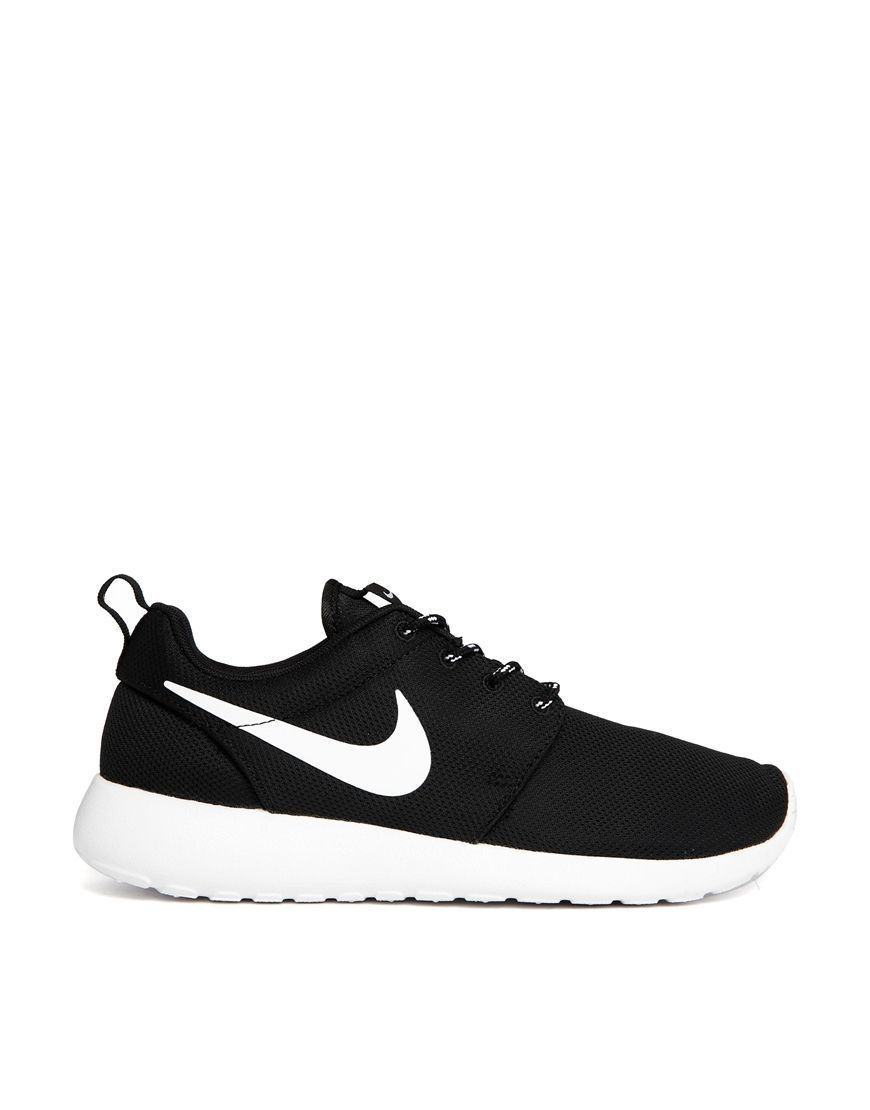 promo code 62202 b2abc Nike   Nike Roshe Run Black Trainers at ASOS Nike Outfits, Black Nike  Trainers Outfit