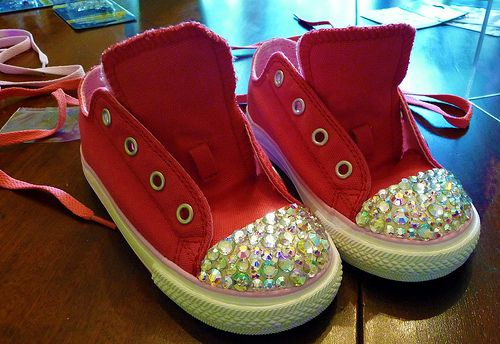 fe1a43f668838 DIY Swarovski Crystal Rhinestone Sneakers | Babies are cute | Shoe ...