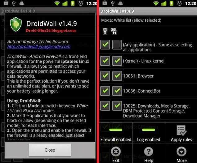 Droidwall Android Firewall App Download Apk And Review Android