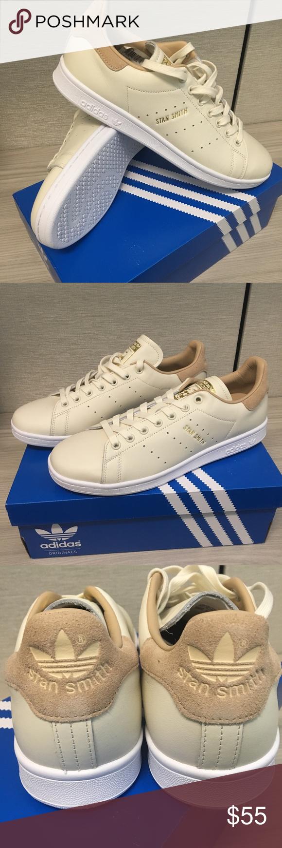 NIB Adidas / Stan Smith zapatos (CREAM / Adidas tan) sz NWT Adidas Stan 64a039