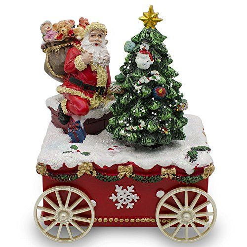475 Santa With Animated Christmas Tree Wagon Musical Box To View Further For This I Spinning Christmas Tree Animated Christmas Tree Merry Christmas Animation