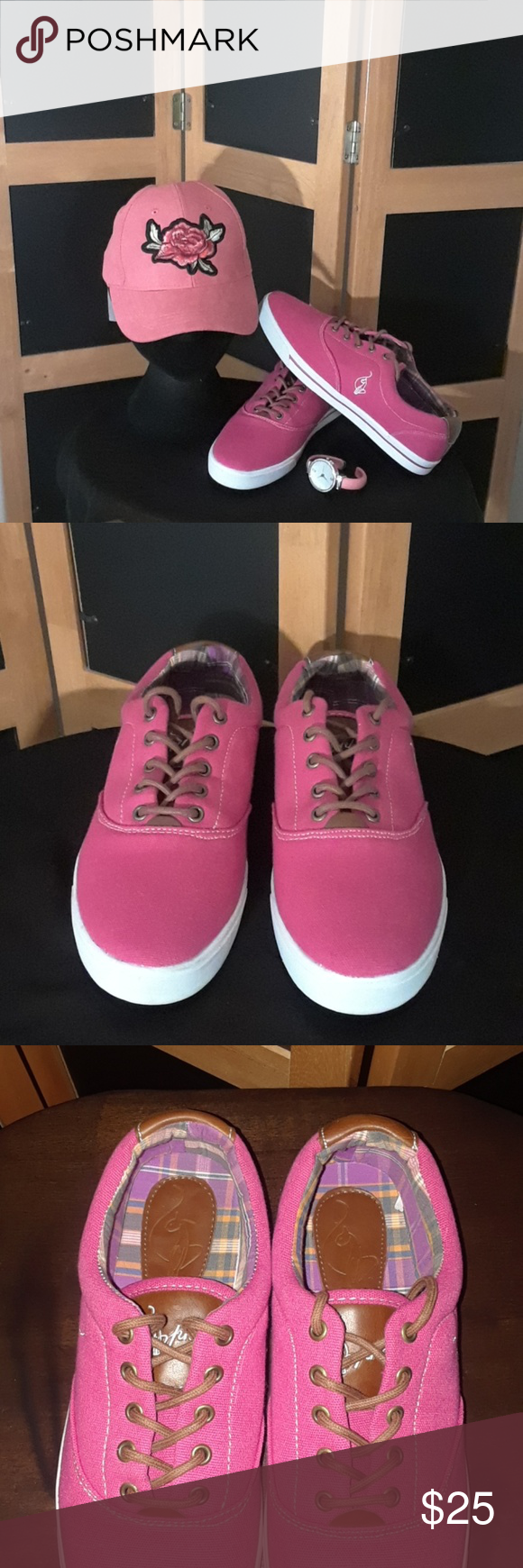 09049675e98 Baby Phat Canvas Sneakers 💟💟💟 Baby Phat Canvas Sneakers - Fuchsia Pink