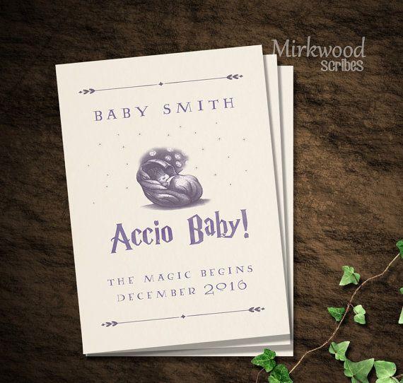 Häufig Accio bébé ! Annonce de la grossesse de Harry Potter | Faire-part  ZP93