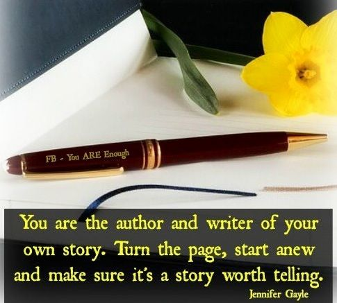 You Are The Author And Writer