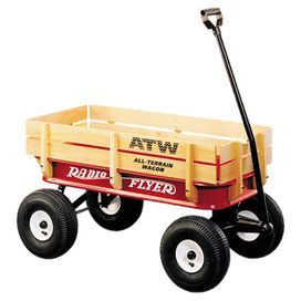 Classic Wood And Steel Wagon With Folding Handle Product Wagon Construction Material Steel Wood And Rubber Radio Flyer Wagons Kids Wagon Radio Flyer