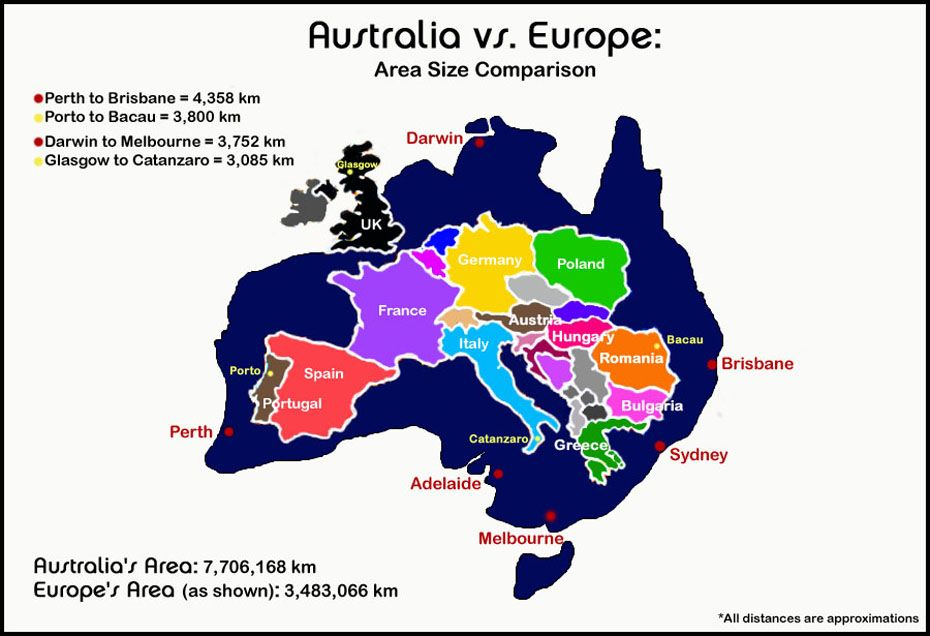 Map Of Australia On Europe.Just How Big Is Australia Anyway Pic Related Tidbits