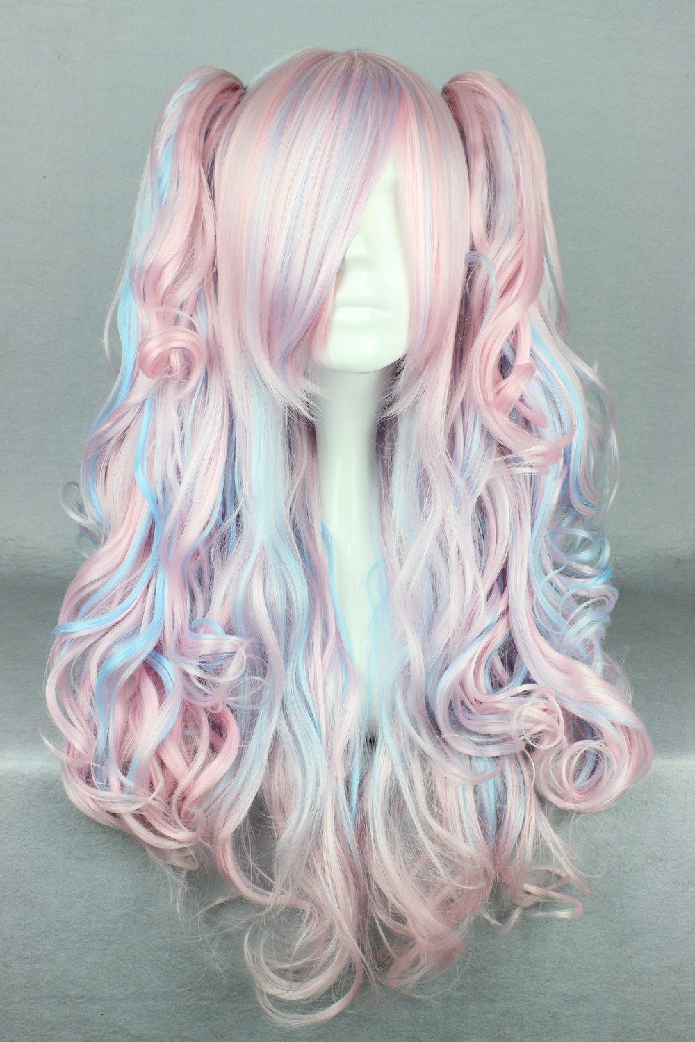 Synthetic None-lacewigs Synthetic Wigs Mcoser 55cm Long Multi-color Beautiful Lolita Wig Anime Wig And To Have A Long Life.
