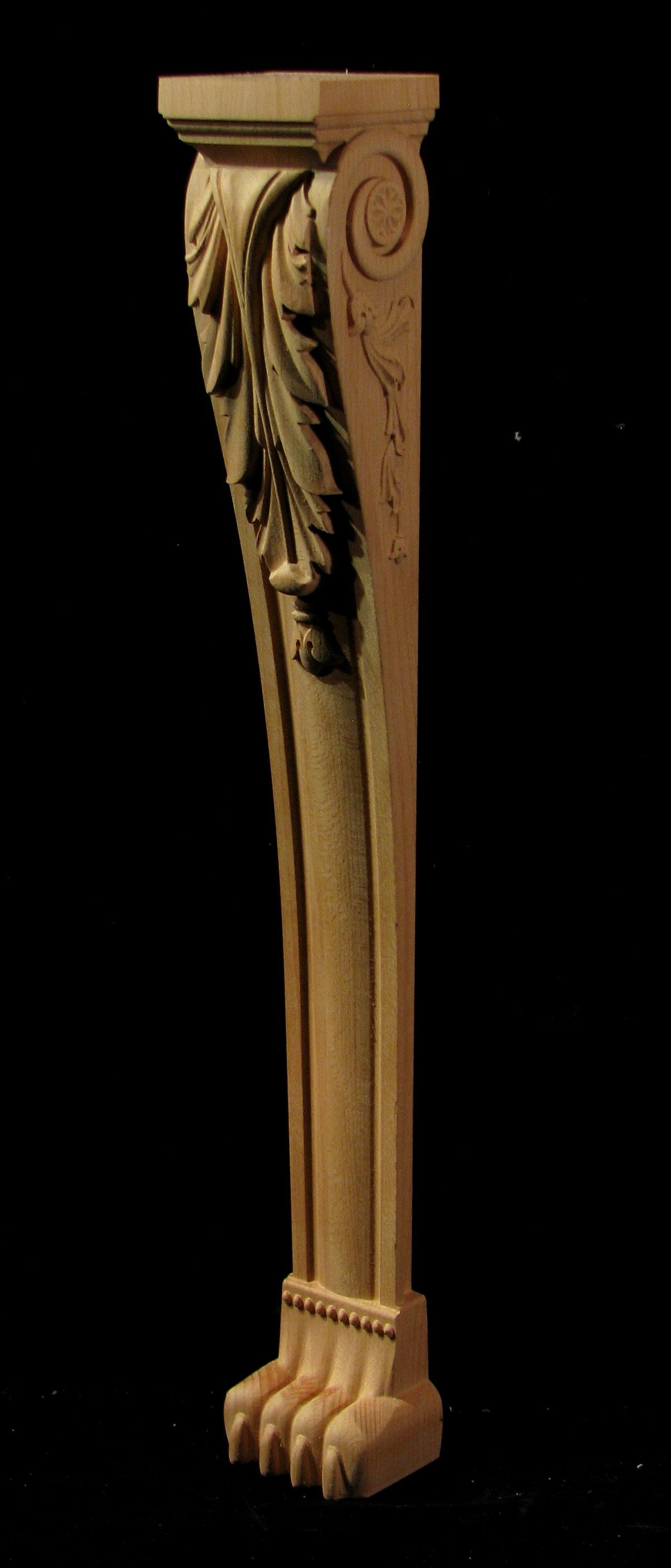 Carved Acanthus Leg Acanthus, Carving