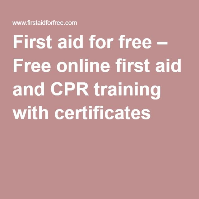 First Aid For Free Free Online First Aid And Cpr Training With