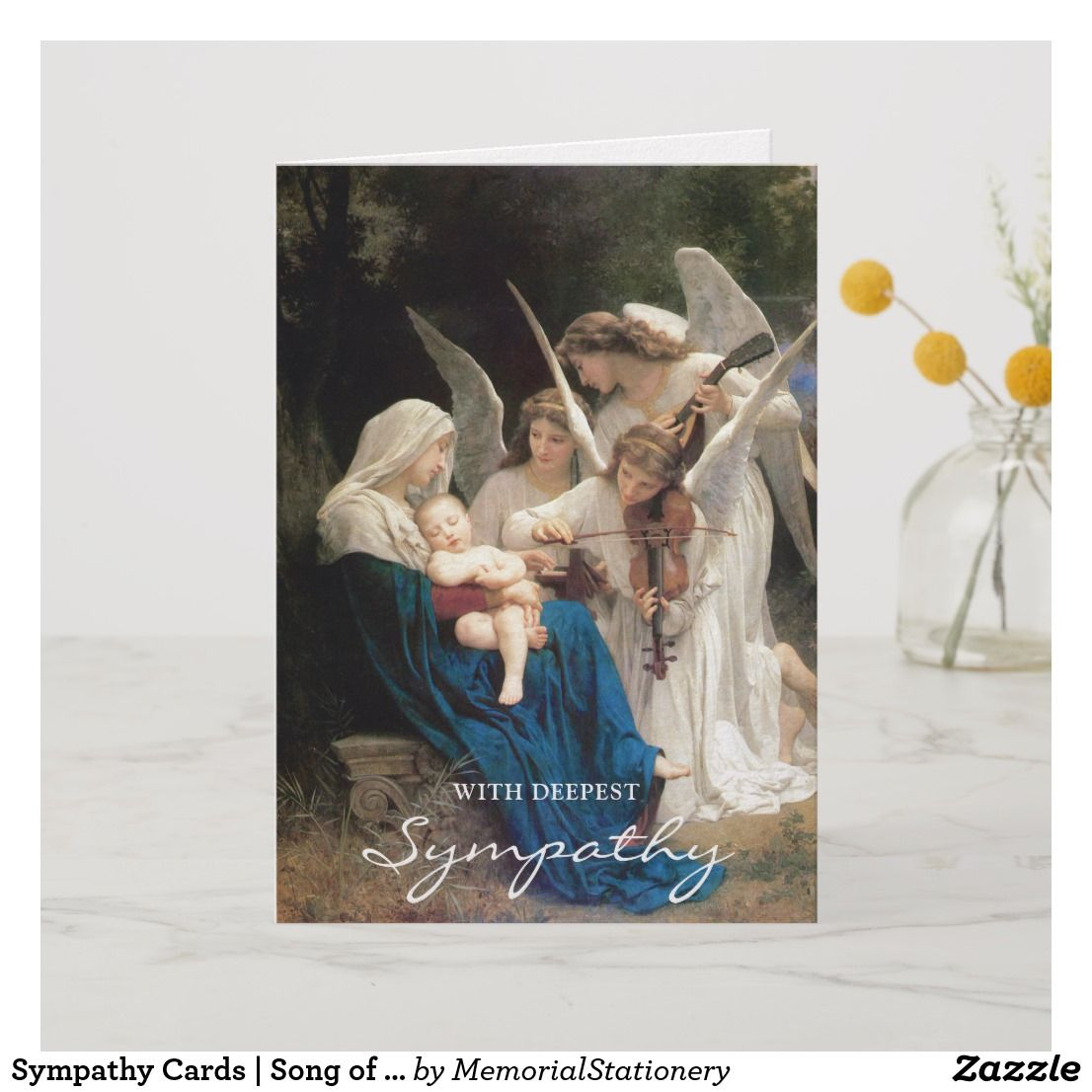 Funeral thank you cards song of angels
