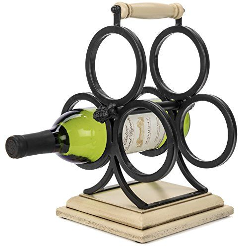 Wine Racks Wellington Countertop Wrought Iron Metal Wood Wine