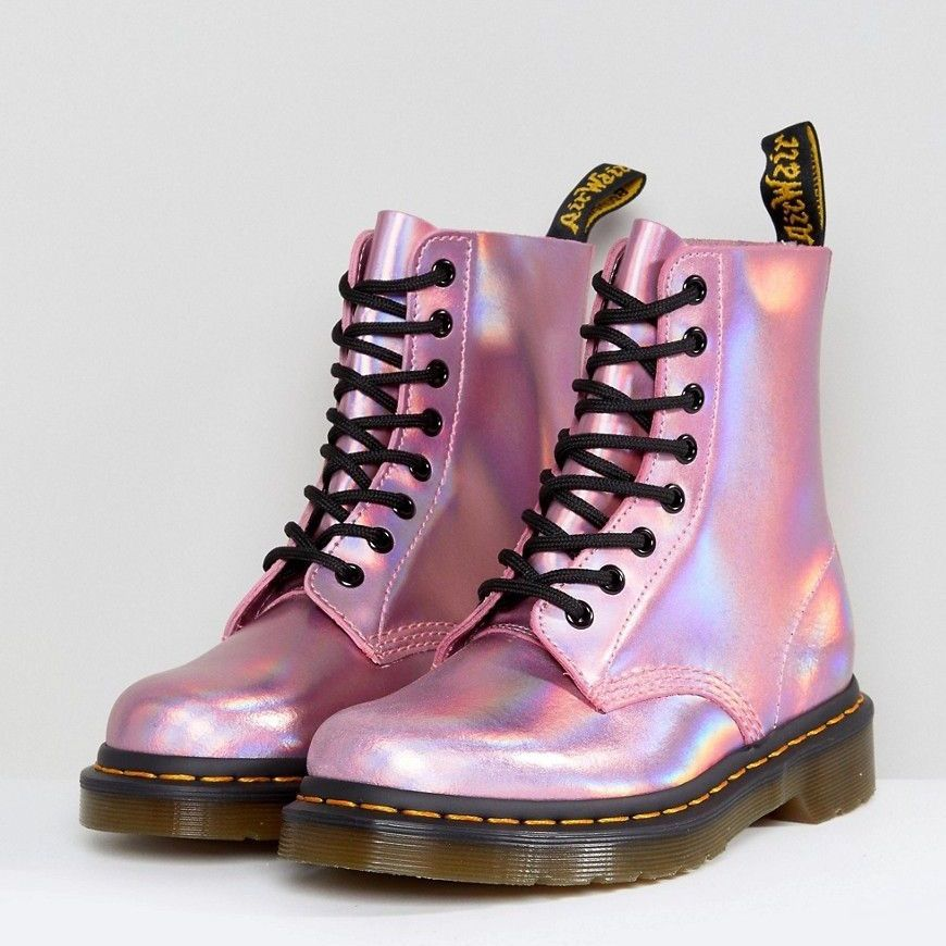 Dr Martens Pink Iced Holo Pascal Boot L