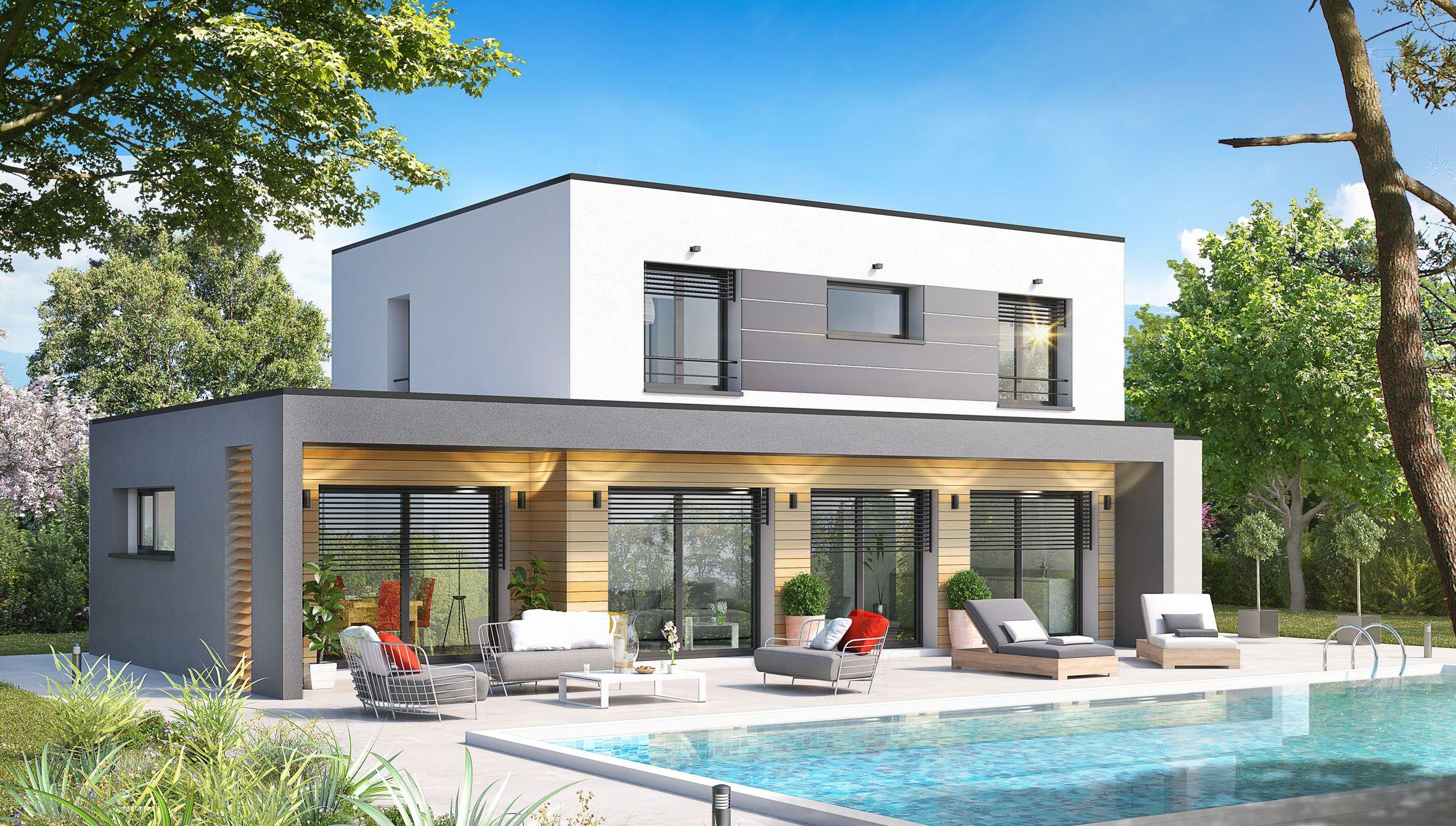 Par Le Constructeur En Savoie Maisons Artis Maison Toit Plat Maison Contemporaine Maison Moderne