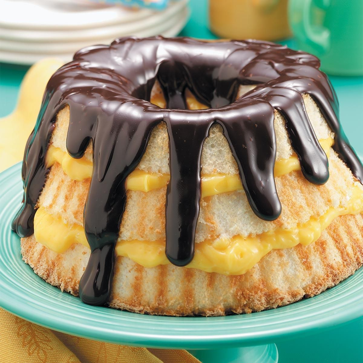 Boston cream angel cake recipe cake recipes desserts