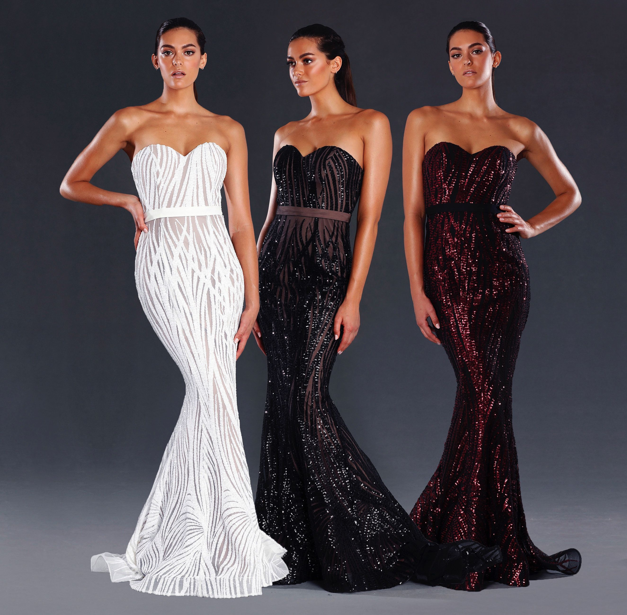 Jx sequins red black and sequin evening dresses