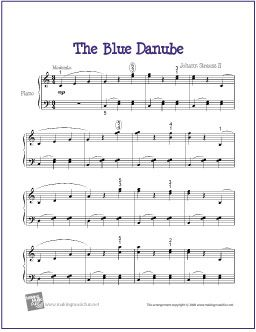 The Blue Danube Strauss Sheet Music For Easy Piano Http