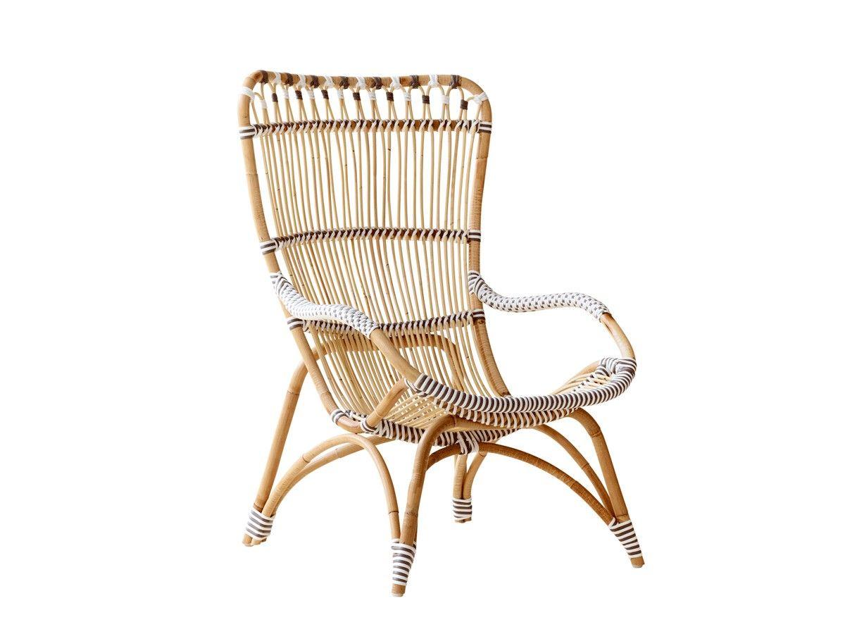Chantal lænestol er et mix-materiale-produkt udført af polyrattan ...