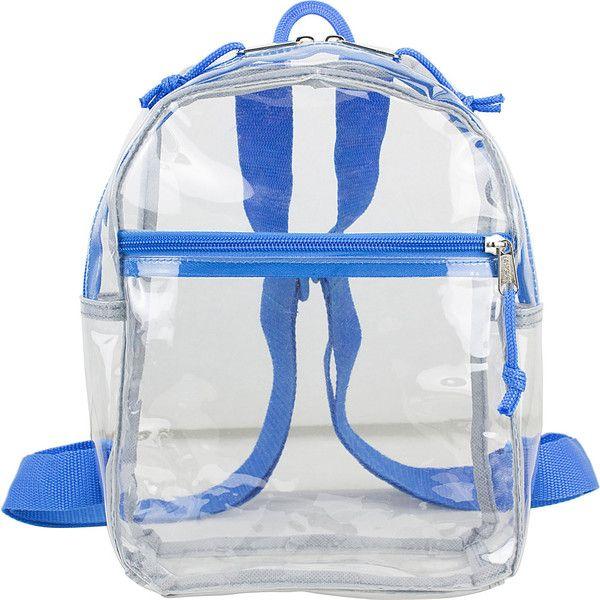 Eastsport Clear Mini Backpack - Clear Royal Blue Trim - Backpack ... 0f425b95c67e1