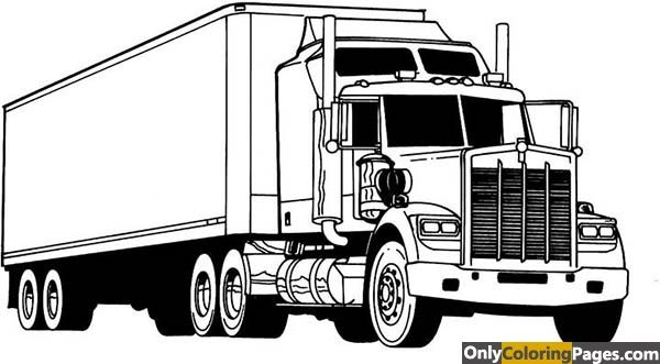 Kenworth Coloring Pages Truck Coloring Pages Semi Trucks Big