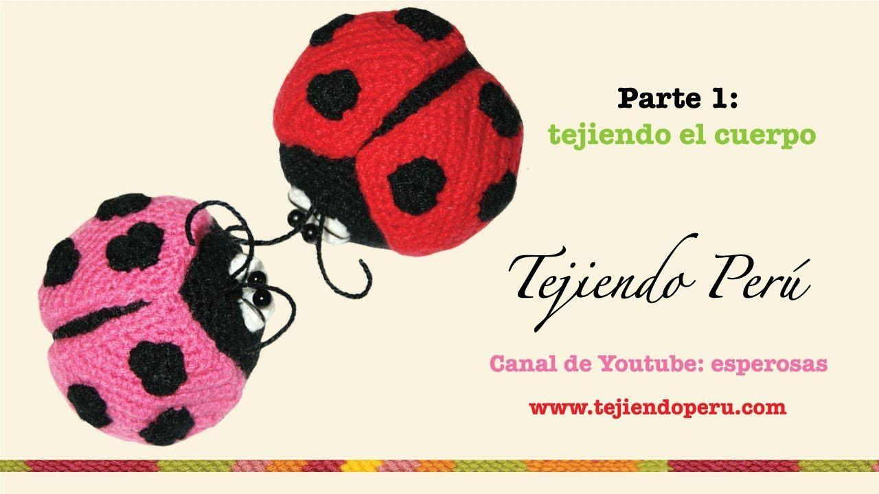 Mariquitas tejidas a crochet (amigurumi ladybugs) Parte 1: tejiendo ...