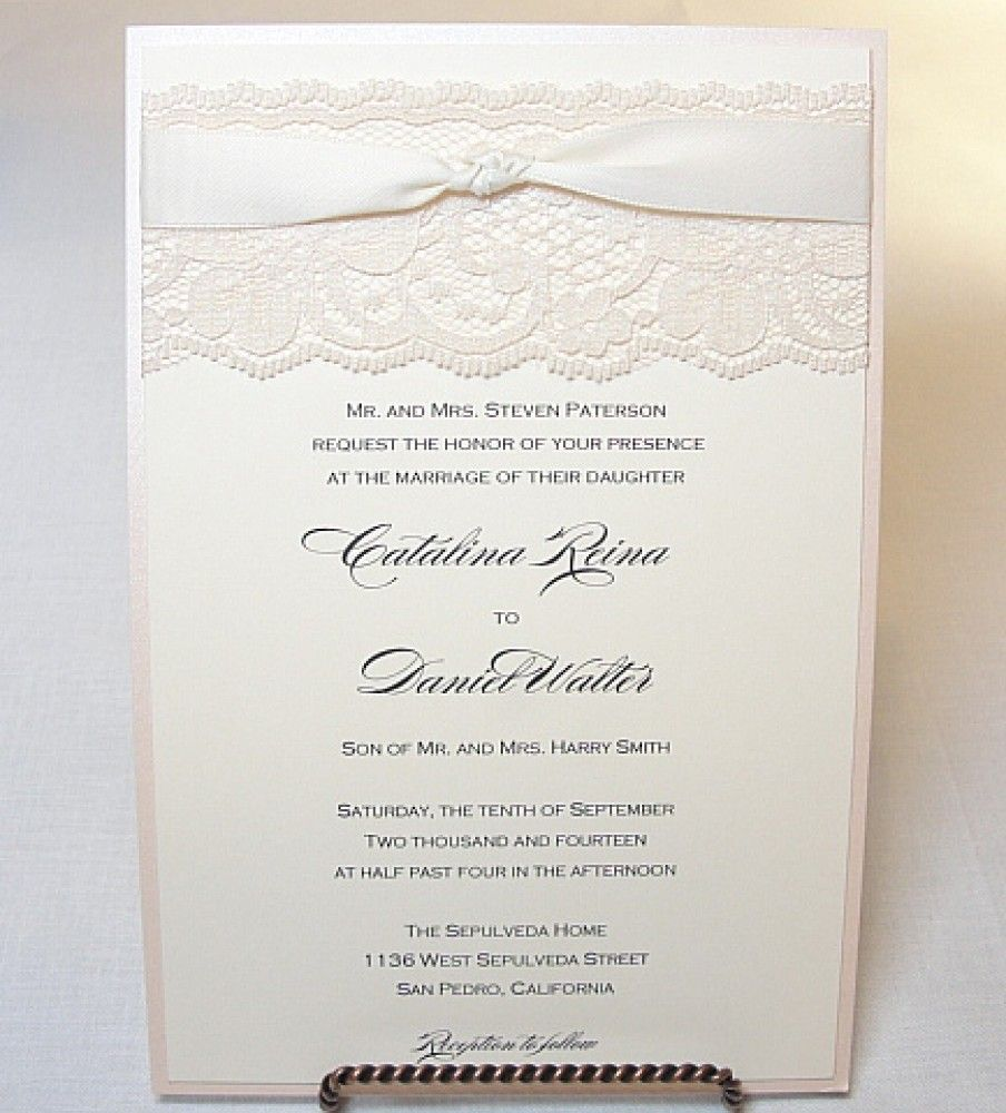 LACEY Lace Wedding Invitation, Invite, Vintage, Shabby Chic, Couture ...