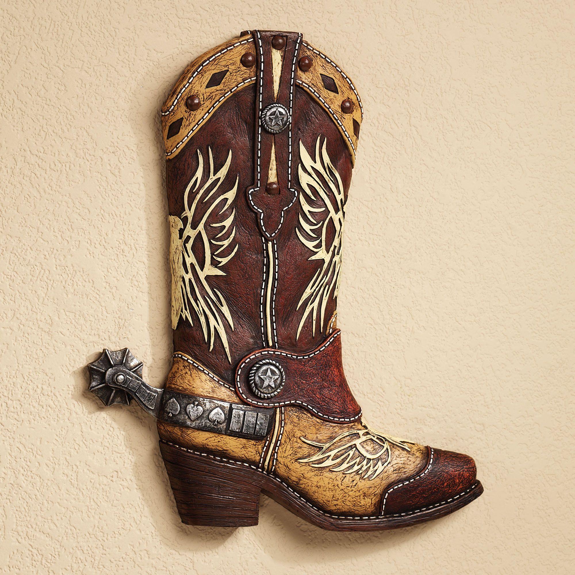 Cowboy boot bathroom decor - Cowboy Art Home Cowboy Boot Wall Art Multi Earth