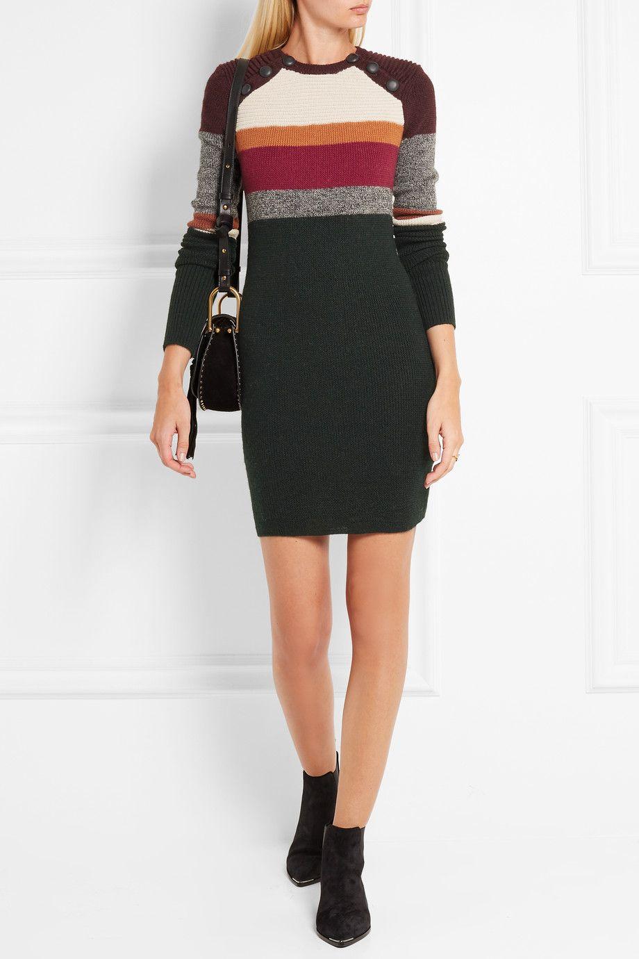 Isabel Marant Étoile Duffy striped wool mini dress