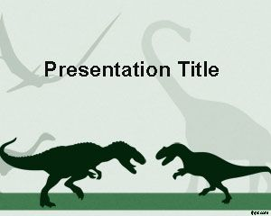 This Is Free Dinosaur Powerpoint Template With Two Dinosaurs That