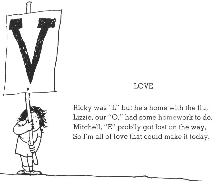 Love Shel Silverstein Quotes: Where The Sidewalk Ends Poem