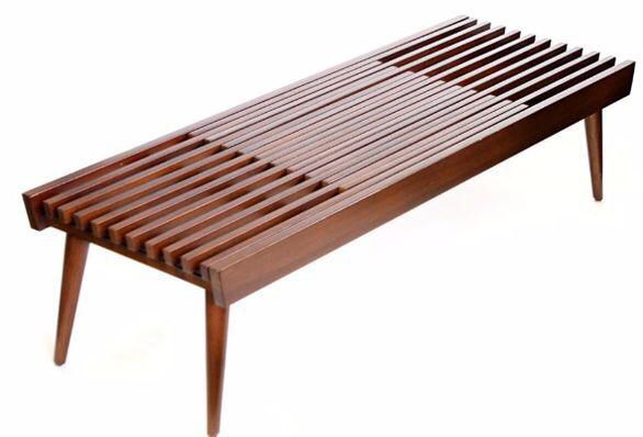 Japanese Expanding Slat Bench On Chairish Com Wood Patio Furniture Bench Wooden Coffee Table