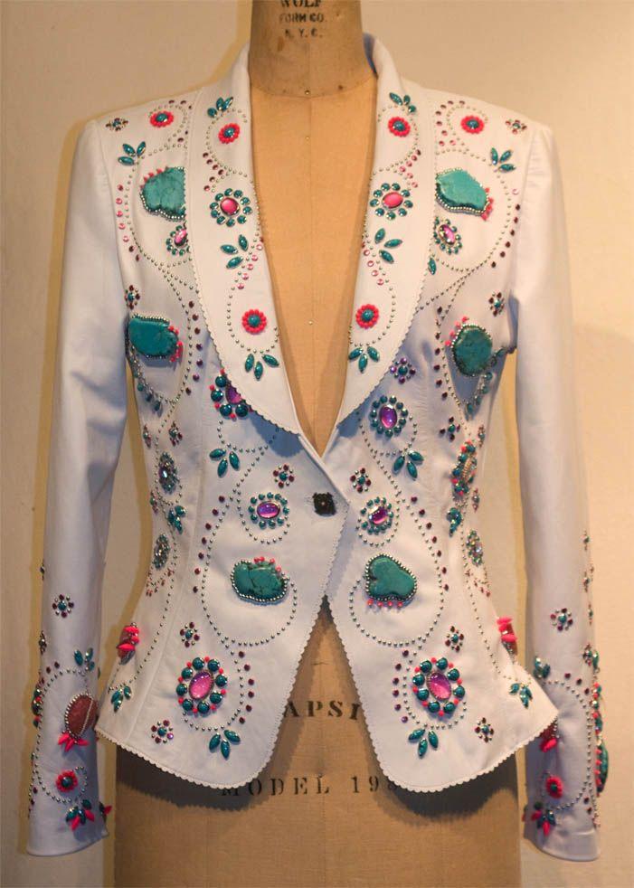Avery embellished Jacket by Jan Faulkner Leather