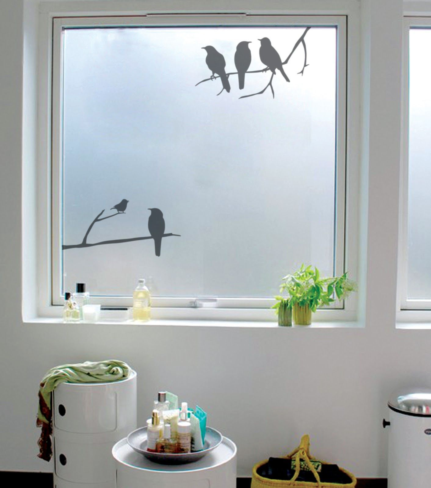 Vinilos o cristales decorativos para ventanas
