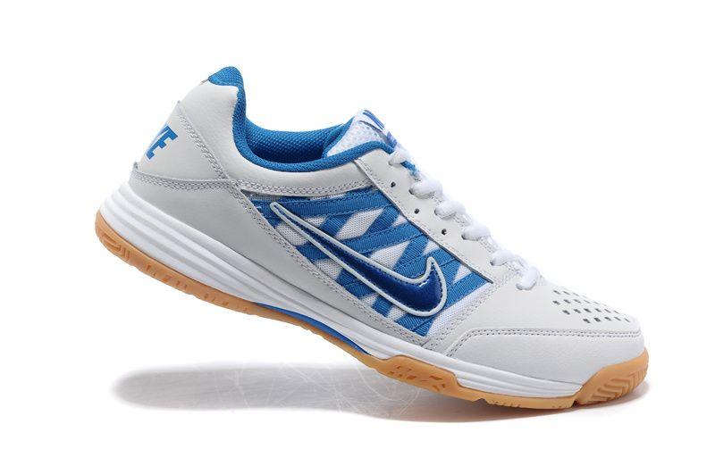 acero agudo Calle  Mens Nike Court Shuttle V White Blue   Nike men, Nike, Men