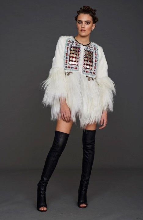 Pinterest Grace's Etnico Monedas Total White Abrigo Style aq4YCw