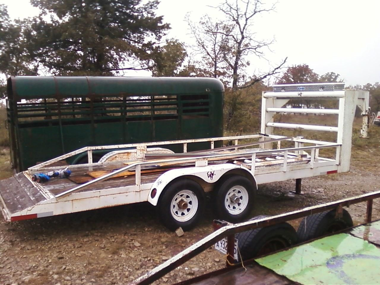 16ft horse trailer for sale $800 and 18ft heavy duty gooseneck car ...