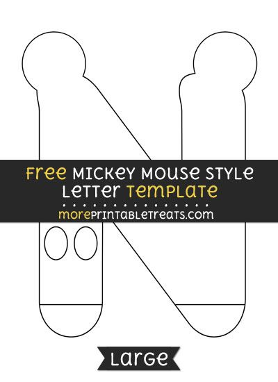 Free mickey mouse style letter n template large shapes and free mickey mouse style letter n template large shapes and templates printables pinterest mickey mouse template and mice spiritdancerdesigns Choice Image