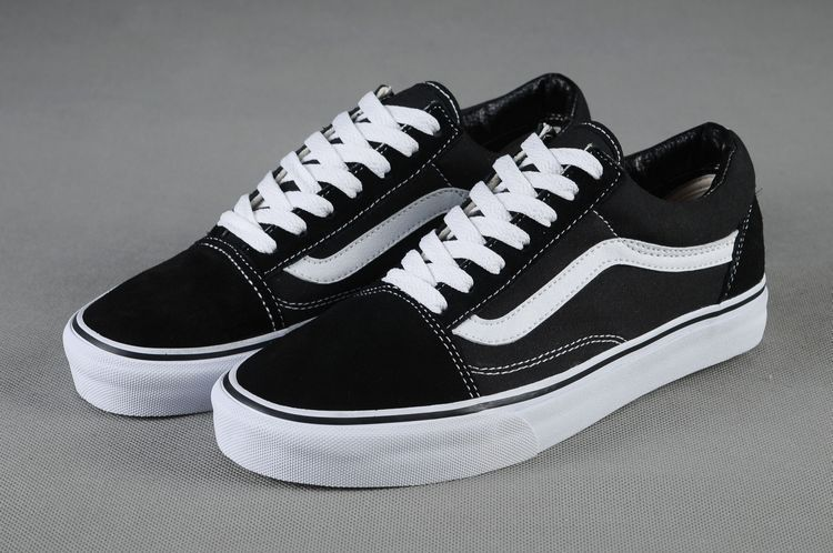 4d5dd1dd82c452 Vans Shoes Black White Original Old SKool Unisex Low