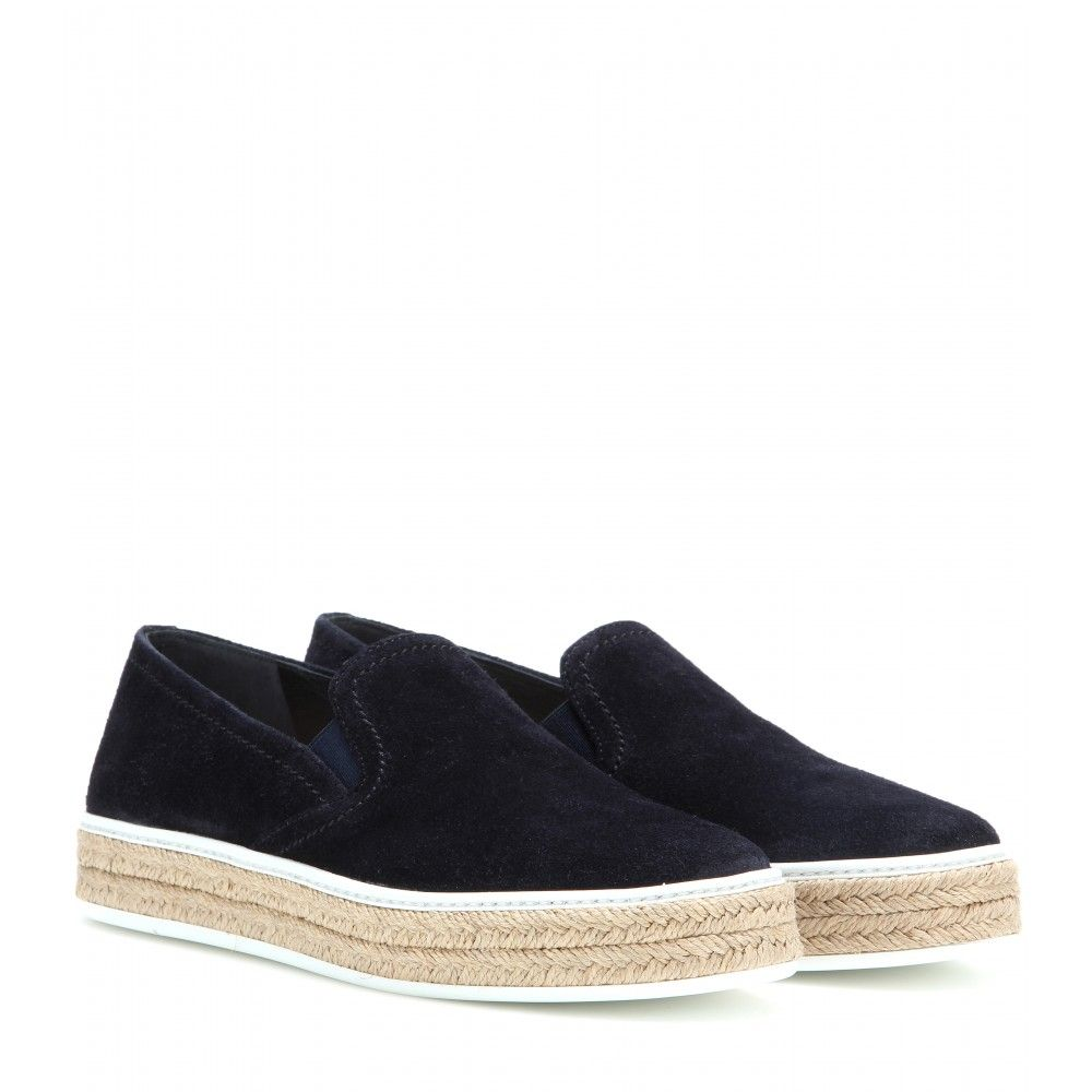 mytheresa.com - Suede espadrille slip-on sneakers - Sneakers - Shoes - Miu Miu - Luxury Fashion for Women / Designer clothing, shoes, bags