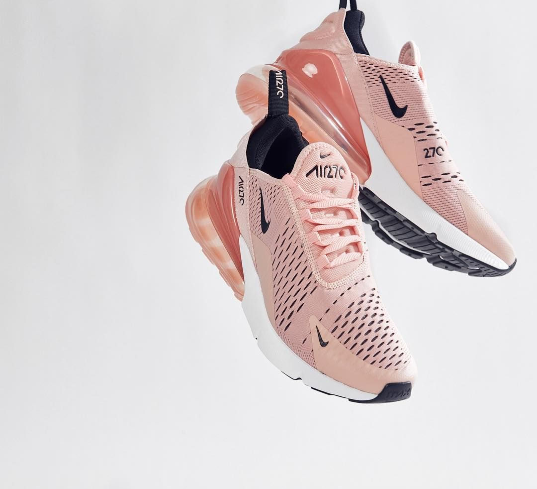 big sale 69094 24dfb Update your sneaker style with this Nike Air Max 270 Women s Shoe in pink.  One of the most popular Nike sneakers of 2018.