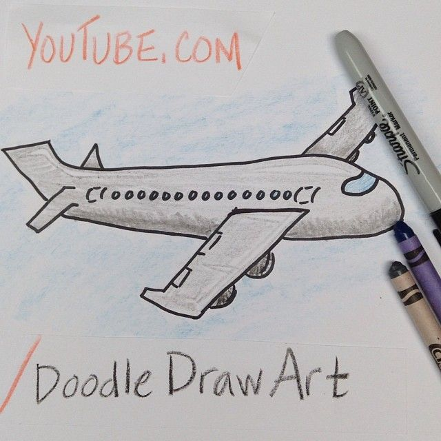 come draw this airplane with me doodledrawart features simple drawing lessons